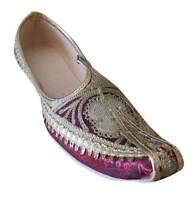 Mojaries Punjabi Groom Khussa Handmade Loafers Men Shoes UK 5.5-11.5 EU 39-45