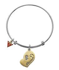 GUESS bracciale rigido bangle con Oro Cuore ubb21013 Argentato