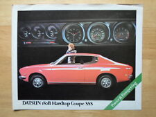 DATSUN BLUEBIRD 180B HARDTOP COUPE SSS orig 1972 UK Mkt Sales Leaflet Brochure