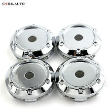66mm/ 62mm Wheel Center Hub Caps 4PCS Car Vehicle Cover Chrome Silver
