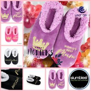 SLUMBIES Pairables Womens MOTHER DAY 2020 Non-Slip Slippers Socks Best