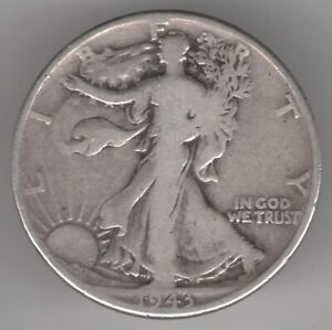 United States Half Dollar 1943 Silver (.900) Coin - Walking Liberty
