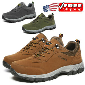 Mens Hiking Athletic Boots Walking Ankle Trail Trekking Trainers Sneakers Shoes