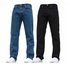 MENS REGULAR STRAIGHT FIT 100% COTTON EURO DENIM BASIC CLASSIC JEANS