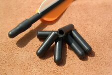 6 x Genuine US Made Pocket Shot Black Arrow Nock Caps - catapult slingshot