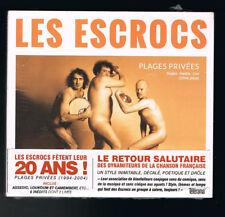 LES ESCROCS - PLAGES PRIVÉES - SINGLES, INÉDITS & LIVE 1994/2004 - NEUF NEW NEU