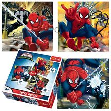 Trefl 3 In 1 20 + 36 + 50 Piece Boys Kids Marvel Spiderman Flying Jigsaw Puzzle