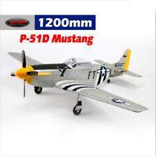 Dynam P-51 Mustang V2 Silver 1200mm Wingspan - PNP