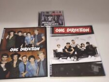2 - One Direction Boy Band Spirol Notebooks with Midnight Memories Cd