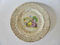 H & K Tunstall Crinoline Lady Chintz Plate, 1940s Vintage Farmhouse Kitchen