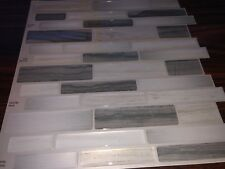 "Peel&Stick Backsplash Mosaics Vinyl Self Adhesive 10 Sheets ""Grey Mist"". 10x10"