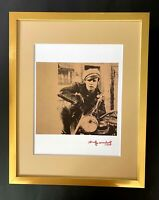 ANDY WARHOL + 1984 SIGNED MARLON BRANDO POP ART MATTED TO BE FRAMED AT 11X14