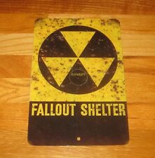 Fallout Shelter Nuclear Retro Vintage Look Rusted Reproduction Metal Sign-