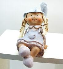 schöne Kunstharz Weihnachtsfigur Kantensitzer Weihnachten Deko Puppe Fa. Amsel