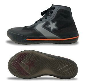 Converse All Star Pro BB Hi Mens Basketball Shoes Size 8.5 Black/Orange 165654C