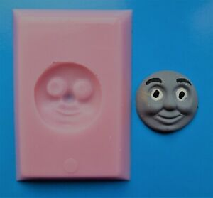THOMAS THE TANK ENGINE FACE SILICONE MOULD FOR CAKE TOPPERS CHOCOLATE, CLAY ETC