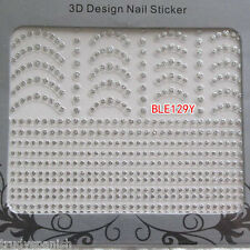 3D Nail Art Lace FRENCH Stickers Decals SILVER Lace Vintage Design Nail Art  129