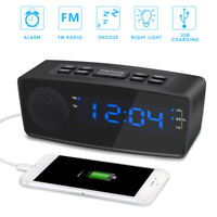 FM Digital LED Projector Projection Snooze Alarm Clock Radio Timer Dimmable