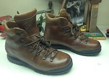 TRIONIC MADE IN ITALY BROWN LEATHER LACE UP ENGINEER BOSS MOUNTAINEER BOOTS 8N