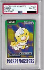 Pokemon Card Japanese Weedle No. 013 Carddass Bandai Graded PSA 10 GEM MINT
