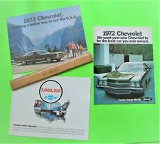 3 Diff 1972 CHEVROLET CATALOGS Brochures 44-pgs CORVETTE Impala CHEVELLE