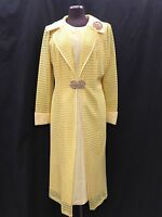LILY&TAYLOR DRESS &JACKET/NEW WITH TAG/SIZE 16/RETAIL$269/YELLOW