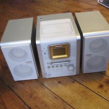 Panasonic HIFI Stereo Minidisc CD Radio Speakers White + Orange SA-PM35MD