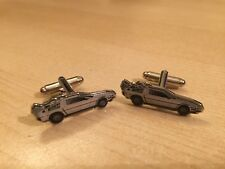 BACK TO THE FUTURE PAIR CUFFLINKS DELOREAN GIFT FREE P&P