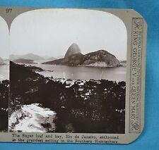 Stereoview Photo Brazil Sugar Loaf & Bay Rio De Janeiro South America Realistic