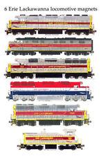 Erie Lackawanna Locomotives 6 magnets Andy Fletcher