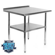Open Box Stainless Steel Kitchen Work Prep Table With Backsplash 24 X 30