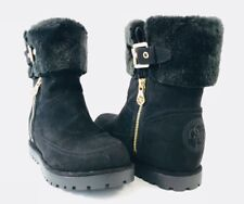 Guess Fyori Black Winter Faux Fur Boot Women's Size 7 NWOB