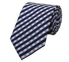 Cravatta da Fabio Farini quadrettata in blu bianco