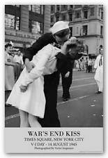 HISTORY POSTER War's End Kiss Times Square New York Lt. Victor Jorgensen