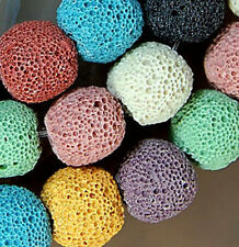 """12mm Colorful Rock Lava Round Beads 15.5"""""""