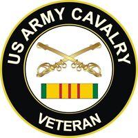 "Army Cavalry Vietnam Veteran 5.5"" Window Sticker Decal"