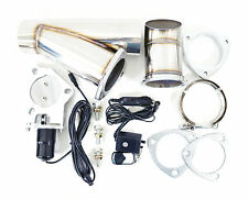 "2.5"" Inch Electric Exhaust Muffler Valve Cutout System Dump Wireless Remote"