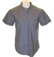 Bnwt Authentic Mens Wrangler Short Sleeve Striped Shirt Large Slim Fit RRP£59.99