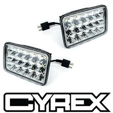 "2 PC 4"" x 6""  15 LED CLEAR LIGHT BEAM HEADLIGHT HEAD LAMPS 24V 45W 2700LM P7"
