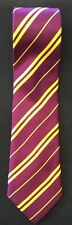 """Purple & Gold Harry Potter Tie Polyester Warner Brothers  Rubies 50""""s"""