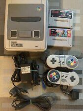 Super Nintendo Konsole ^ 2 Controller ^ 2 Spiele ^ Getestet! SNES