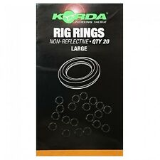 Korda NEW Carp Fishing Large Non Reflective Rig Rings *Pack Of 20*