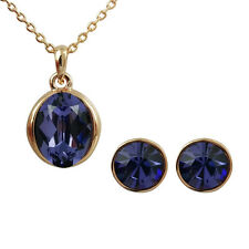 Fashion Jewelry - 18k Rose Gold Plated Purple Crystal Set (FS177)