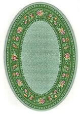 """OVAL WOVEN RUG 6"""" X 8 1/2"""" DOLL HOUSE FURNITURE"""