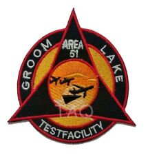 Area 51 Groom Lake Facility Triangle iron sew on patch Badge Embroidered