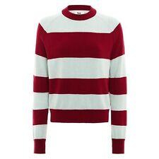 BZR Bruuns Bazaar Lambs Wool Blend Striped Jumper Red/Blue NEW