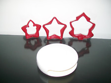 Tupperware Cookie Cutters Christmas w/ Case Rare New in Package