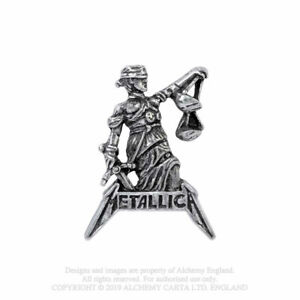 METALLICA - JUSTICE FOR ALL - PEWTER LAPEL/HAT PIN - BRAND NEW MUSIC PC513