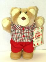 Vintage Wendy's Furskins Bear 1986 Holiday Plush Promotion Boone Furskin Toy