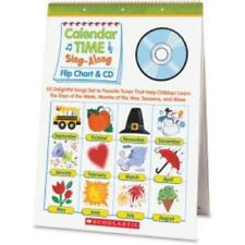 Scholastic Pre K-1 Calendar Sing-a-long Set Education Printed Book - Cd, Book